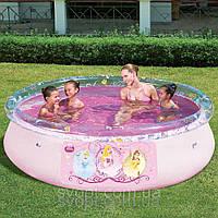 Детский надувной розовый бассейн (244х66см)  91052 Bestway