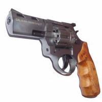 Револьвер п/п Флобера STREAMER R2 сатин  черный с коричневой рукоятью