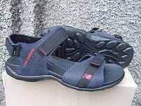 Мужские кожаные сандали New Balance синие (размеры 40-45)