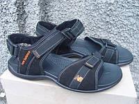 Мужские кожаные сандали New Balance черные (размеры 40-45)