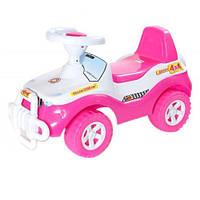 Каталка-толокар детская машинка Джипик Орион 105 малиново-белая