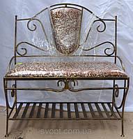 """Кованый диван """"амулет"""" с красивой мягкой спинкой"""