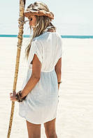 Пляжная туника с кружевом
