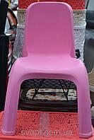 Детский пластиковый стул со спинкой