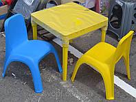 Детский стол и стул комплект пластик
