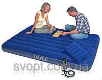 Надувной матрас кровать (152х203х22 см.) Intex 68765
