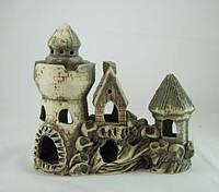 Керамика для аквариума Замок-дом на скале, 23х20 см.