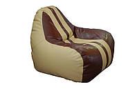 [ Simba Sport H-2201/H-002 S Beige-Brown ] Бескаркасное мягкое кресло-груша бежево-коричневый