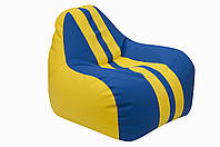 [ Simba Sport H-2240/H-2227 S Yellow-Blue ] Бескаркасное мягкое кресло-груша желто-синий