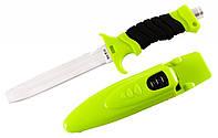 Нож для подводной охоты SS 10: рукоять 130 мм, длина 275 мм, чехол, лезвие Satin Finish 440 C