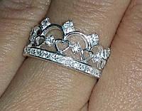 Кольцо Корона из серебра 34375-76-77