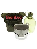 Фляга походная  с чехлом 1Qt MIL-TEC Olive 14510110