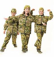 Спортивный костюм детский для мальчиков камуфляж Мультикам от 4 до 12 лет