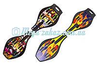 """Скейтборд/скейт рипстик Ripstik двухколесный с алюминиевой рамой """"Print"""": 2 цвета"""