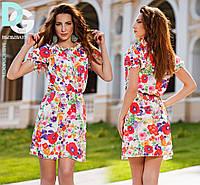 Платье летнее на резинке с цветами 04/247