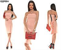 Женское короткое платье с оборками 42-46