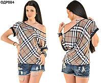 Женская блуза в клетку 42-46