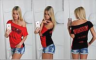 Женская футболка Moschino двухсторонняя