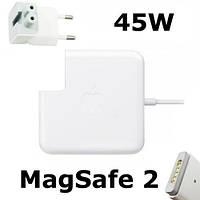 Компактная зарядка для Apple MacBook с магнитным разъемом MagSafe 2: 45W 14,85V, 3,05A, класс А, белая