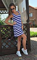 Платье короткое майка  морячка