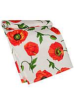 Кухонное вафельное полотенце (Белый с красным)