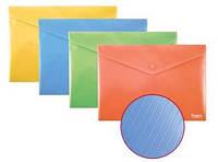 Папка-конверт на кнопке, А4, непрозрачная