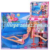 """Кукла Defa Lucy с сестричкой """"Пляж"""": бассейн и аксессуары в комплекте"""