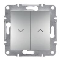 Выключатель для жалюзи без рамки алюминий Asfora, EPH1300161