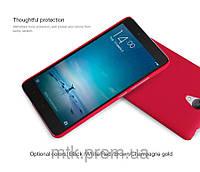 Чехол-бампер и плёнка NILLKIN для телефона Xiaomi Redmi Note 2 красный