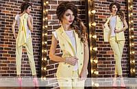 Элегантный костюм с жилеткой и брюками 7/8  (10 расцветок)1014
