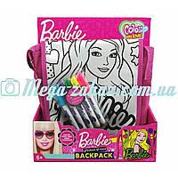 Сумка-раскраска Barbie/Minnie Mouse с длинной ручкой и застежкой-липучкой, 2 вида: 20х24х6см, 5 фломастеров