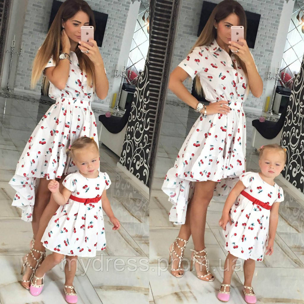 Платья для мамы и дочки одинаковые летние