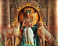 Картина для рисования камнями стразами Diamond painting Алмазная вышивка алмазами мозаика Египет гепарды