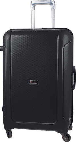 Ёмкостный чемодан на 4-х колесах CARLTON 242J478;01, черный, пластик, 110 л.