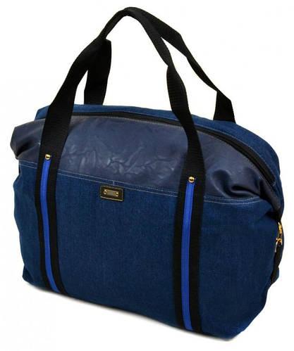 Прочная тканевая сумка-саквояж 23 л. 2019 dark-blue темно синий