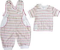 Комплект ясельный - футболка и песочник, 100 % хлопок, интерлок, р.р.62-68.
