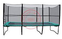 Квадратный батут Kidigo МВМ 457х305 см. с защитной сеткой + лестница