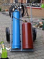 Пропановый резак в полном комплекте с газовыми баллонами на тележке бу купить газосварочный пост Украина