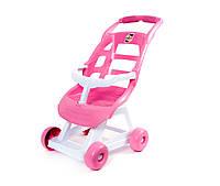 Коляска для куклы пластиковая 147 розовая Орион