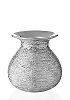 Ваза керамическая глянцевая с серебряным декором.