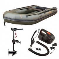 Надувная лодка + электро мотор Fox FX 290 Inflatable Boat лодка 2.9m надувной пол + мотор FX44 Outboard + эл.н