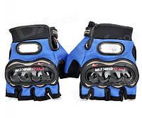 Спортивные беспалые перчатки «Biker» с кастетными вставками.