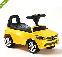 Каталка-толокар машинка Bambi Mercedes желтая