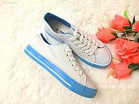 Кеды Бело голубые
