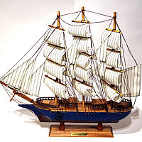 Модель корабля парусника из дерева 50 см 85018