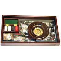 Набор игр покер и настольная рулетка в подарочной коробке