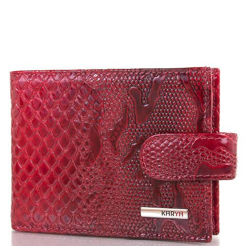 Красная женская кожаная визитница с отделением для купюр KARYA (КАРИЯ) SHI054-1ZM