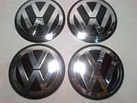 Наклейка на колпак диска Volkswagen 90 мм металл