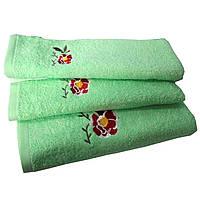 Полотенце махровое Португалия, 40*75, гладкокрашенное, модель Dalila, св-зеленый