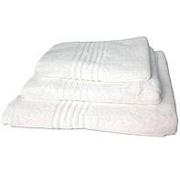Полотенце махровое Португалия, 40*75, гладкокрашенное, дизайн Greek белый